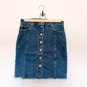 GAP Button Front Mini Skirt